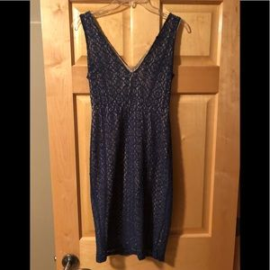 Charles russe navy and tan size medium dress